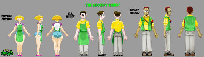 The Grocery Three Character Designs by G-flux