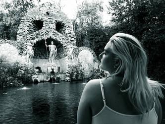 Trteno Girl In black and white 2. by OrsatUrsusActos