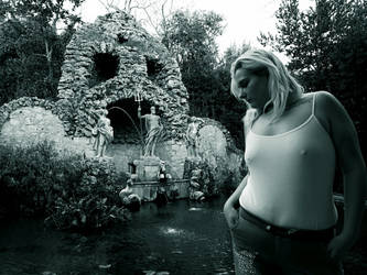 Trteno Girl In black and white 5. by OrsatUrsusActos
