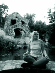 Trteno Girl In black and white 8. by OrsatUrsusActos