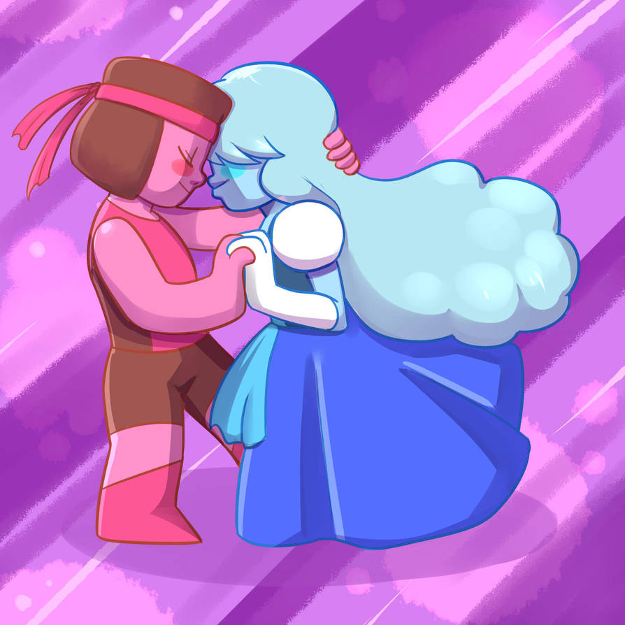 Hehehe~^v^ Ain't that cute? I'm gonna start making more drawings about different gems dancing.