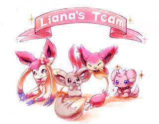 :commission: Liana's Team by KoriArredondo