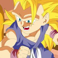 Dragon Ball GT Super Saiyan 3 Goku by infernaltai91