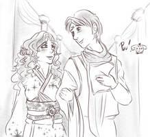 Koenma and Jasmine drawn by Lola by NightJasmine10