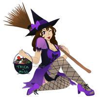 Jasmine-Witch Commission drawn by JackieSkullz by NightJasmine10