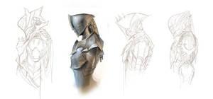 Helmet Sketches by ClintCearley