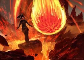 Volcanic Geyser - MTG by ClintCearley