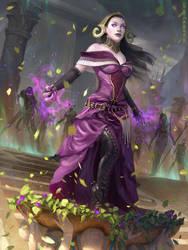 Liliana, Death Wielder - MTG by ClintCearley