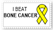 I beat bone cancer stamp by EMT-Fox-Dan