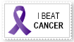 I beat cancer stamp by EMT-Fox-Dan