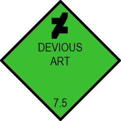 Devious Art Hazard Placard by EMT-Fox-Dan