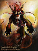 Fenrir Painted by kique-ass