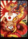 Rising sun.Dragon.Girl. by kique-ass