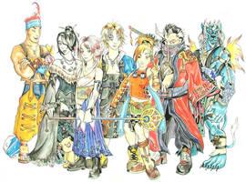 The Cast Of FFX by kique-ass