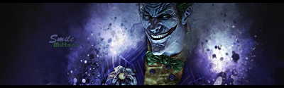 Joker splatter smudge sig by mittensSGFX