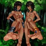 Familia Myth-Tione,Tiona by Asmo-dA