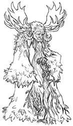 30 CC No. 28: Porevit, Elder of the Forests by Psycho-Gaze