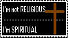 I'm Not Religious stamp by studentofdust