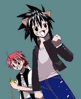 Kotaro and Negi by studentofdust