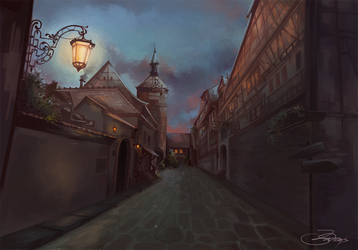 Street (speed painting) by Dasyeeah