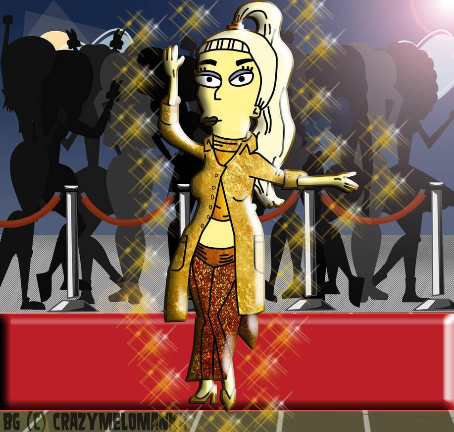 Lady Gaga on The Simpsons by Eddy7454