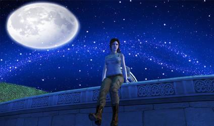 Lara's night at Croft Manor Outside by Eddy7454
