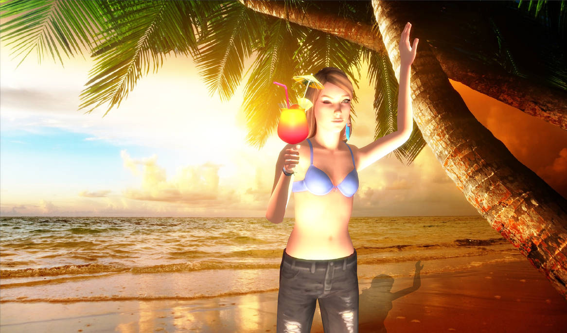 Rachel Amber in Beach Sunshine by Eddy7454