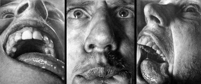 Hyperrealism-my self-portraits by Kordianl