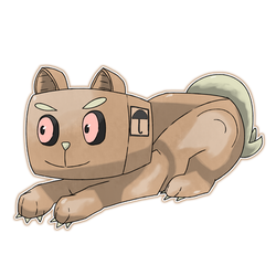 014 - Arivow, The Box Cat Pokemon by KyephaLife