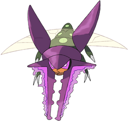 738k Vikavolt, the Stag Beetle Pokemon by KyephaLife