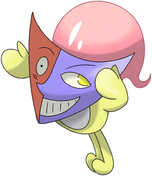 Maskter, the Prankster Pokemon by KyephaLife