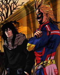 Eraserhead and All Might  by SleepyDetective