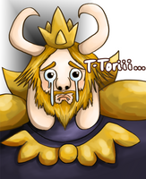 Sad Asgore by AderuMoro