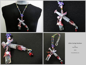 Glitter Syringe necklace by KaoKoneko