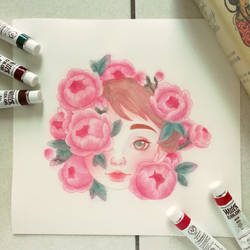 Peonies Fairy by nomiione