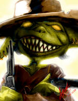 Kazzious -Kaz- Boomflare: Goblin Gunslinger by Xprinceofdorknessx