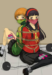 Chie and Yukiko Kidnapped by RAYDO94