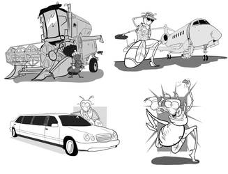 Illustrations for accounting textbook Vol. 2 by Maxthe