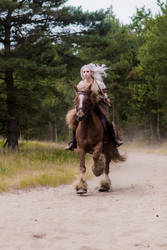 Ciri cosplay, action picture! by Satiellacosplay
