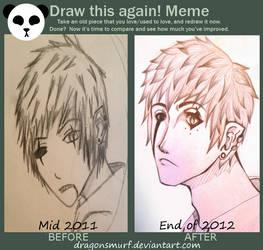 Draw This Again Meme: Aroe by DragonSmurf