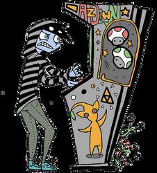 Arcade Cabinet by DragonSmurf
