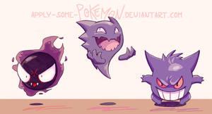 Pokemon Gen1 - ghosts by apply-some-pokemon