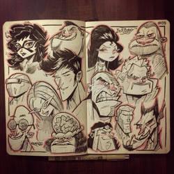 INKtober 2014 #5: Super Commando Dhruva Universe by kshiraj