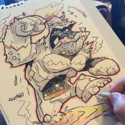 8th SketchBomb New Delhi - Volcano Creature by kshiraj