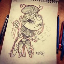 10th SketchBomb NewDelhi - Elf Princess by kshiraj