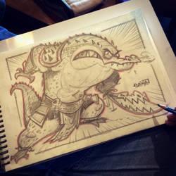 10th SketchBomb NewDelhi - CrocodileWarrior by kshiraj