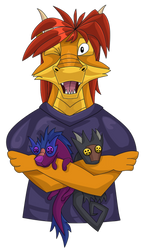 Thaz and his creatures by Diaminerre
