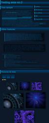 DM Blue-gradient journal skin by Diaminerre