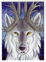 [ACEO] wolf-minori by Diaminerre