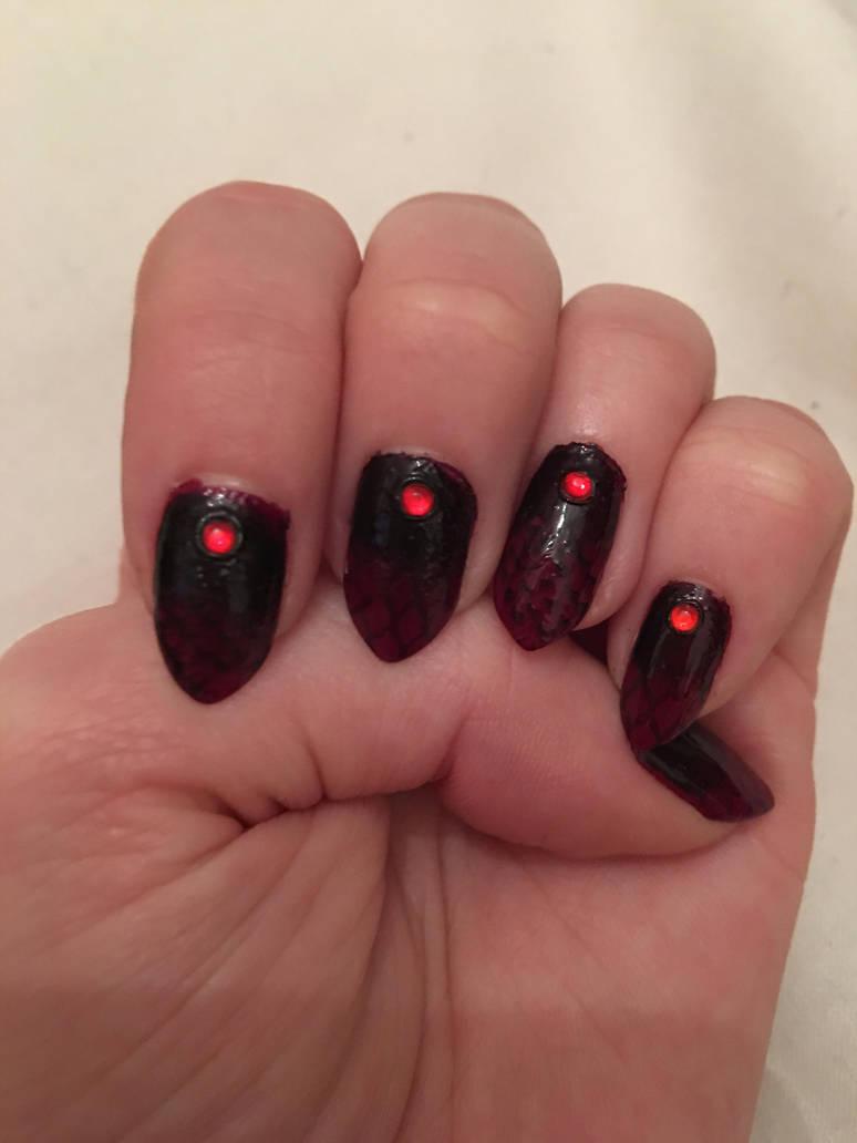 Vampire Nails By Xlittledovex On Deviantart